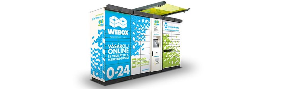 Csomagátvételi pontok bemutatása: Webox csomagautomata