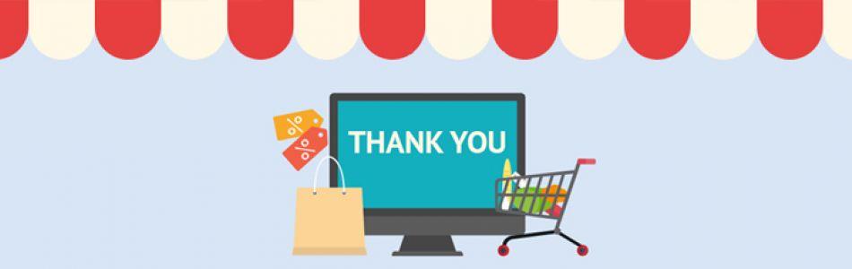 Webáruház üzemeltetés: a vásárlás megköszönése