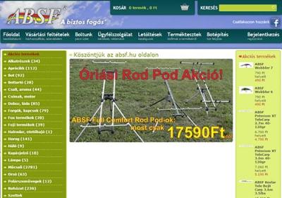 www.absf.hu webáruház készítés