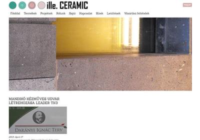 www.illeceramic.com webáruház készítése