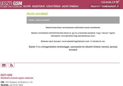 www.esztigsm.hu webáruház készítés