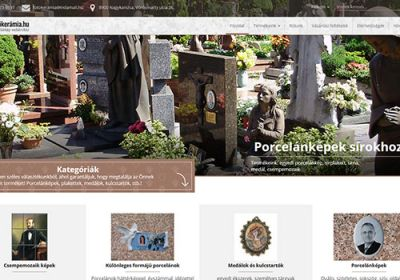 Fotókerámia.hu egyedi fejlesztésű webáruház készítése