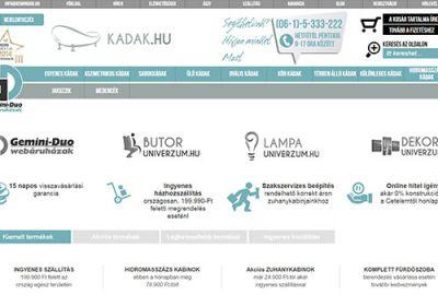 Kadak.hu reszponzív webáruház készítés
