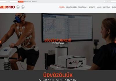 Med-Pro.hu reszponzív webáruház készítése