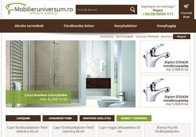 Mobilieruniversum.ro webáruház készítése