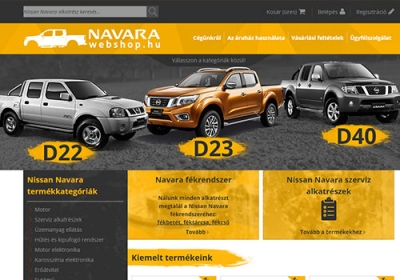 Navarawebshop.hu online bolt készítés