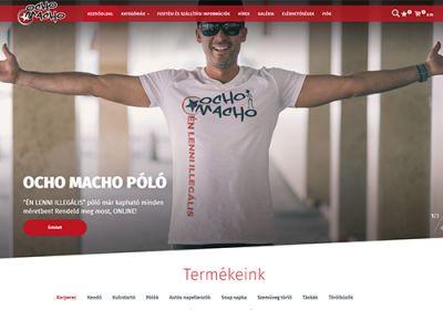 Ochomacho.hu zenekar reszponzív webáruházának elkészítése