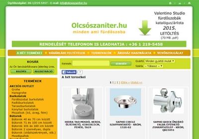 www.olcsoszaniter.hu webáruház készítés