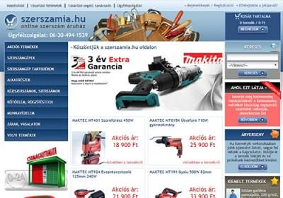 www.szerszamia.hu webáruhász készítés