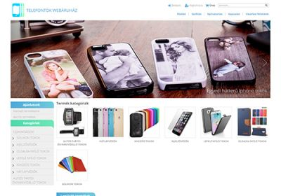 Telefontokaruhaz.hu webáruház készítése
