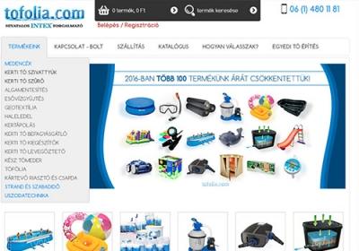 shop.tofolia.com webáruház készítés
