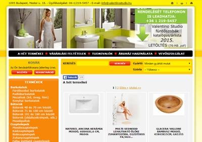 www.valentinostudio.hu webáruház készítés
