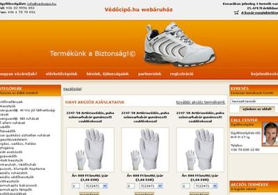 Védőcipő.hu webáruház készítése