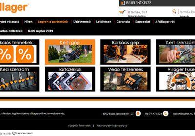 Villageronline.hu - Kerti eszközök és kiegészítők - reszponzív webáruház készítés