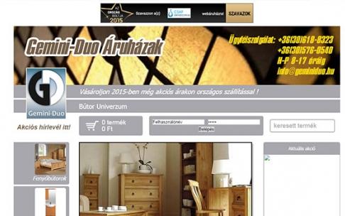 www.geminiduo.hu webáruház készítés