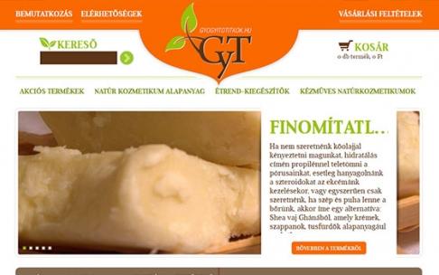 www.gyogyitotitkok.hu webáruház készítése