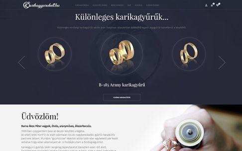 Karikagyurukell.hu mobilbarát webáruházkészítés