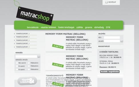 Matracshop.hu készítése