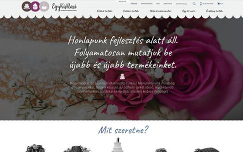 Egykisnasi.hu minőségi tortákat árusító reszponzív webshop készítés