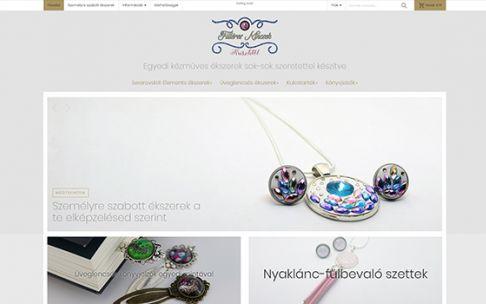 Fillereskincsek.hu - Egyedi kézműves ékszerek - Reszponzív webáruház készítés