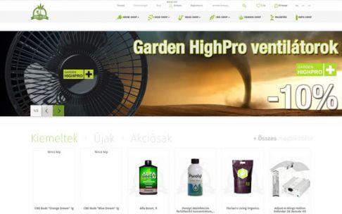 Growisland.at - Kender termékek és kertészeti kiegészítők - reszponzív webáruház készítés