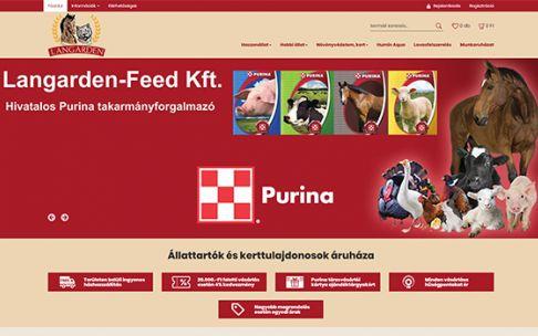 Langarden.hu - Állattartók és kerttulajdonosok - reszponzív webáruház készítés