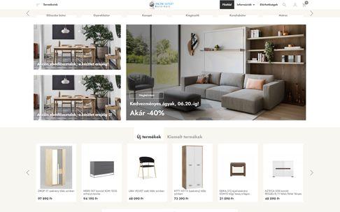 Onllineoutletbutor.hu - Bútorwebáruház - reszponzív webshop készítés