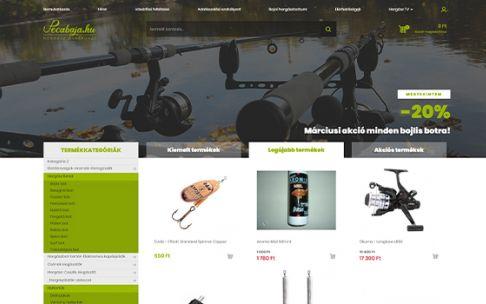 Pecabaja.hu - Horgászwebáruház, horgászfelszerelés - reszponzív webáruház készítés