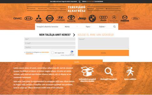 Terepjaroalkatresz.eu - Terepjáró alkatrész reszponzív webáruház