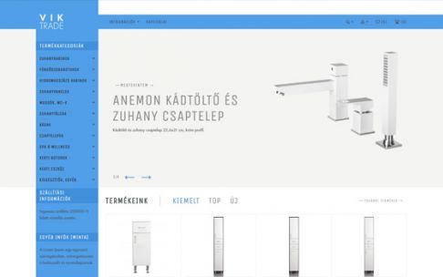 Viktrade.hu - reszponzív szaniter webáruház készítés