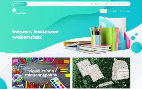 Webshop.megapapir.hu - írószer, irodaszer - reszponzív webáruház készítés
